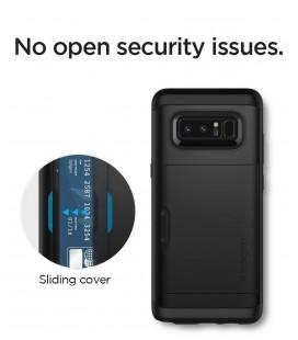 "Juodos spalvos ""Qult Carbon"" Samsung Galaxy S8 Plus G955 CARBON dėklas"