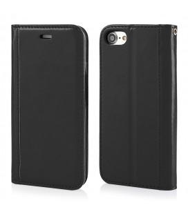 """Juodas atverčiamas dėklas Apple iPhone 7/8 telefonui """"Elegance"""""""