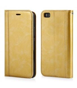 """Auksinės spalvos atverčiamas dėklas Apple iPhone 7/8 telefonui """"Elegance"""""""