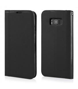 """Juodas atverčiamas dėklas Samsung Galaxy S8 telefonui """"Elegance"""""""
