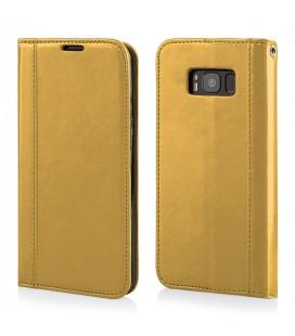 """Auksinės spalvos atverčiamas dėklas Samsung Galaxy S8 telefonui """"Elegance"""""""