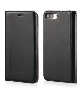 """Juodas atverčiamas dėklas Apple iPhone 7 Plus / 8 Plus telefonui """"Elegance"""""""