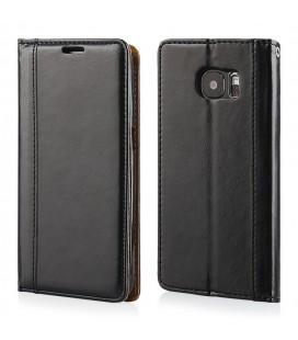 """Juodas atverčiamas dėklas Samsung Galaxy S7 telefonui """"Elegance"""""""