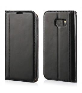 """Juodas atverčiamas dėklas Samsung Galaxy S7 Edge telefonui """"Elegance"""""""