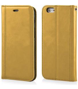 """Auksinės spalvos atverčiamas dėklas Apple iPhone 6/6s telefonui """"Elegance"""""""
