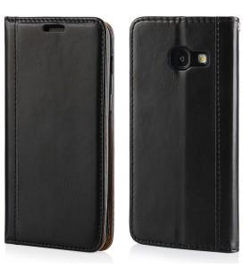 """Juodas atverčiamas dėklas Samsung Galaxy A3 2017 telefonui """"Elegance"""""""