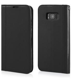 """Juodas atverčiamas dėklas Samsung Galaxy S8 Plus telefonui """"Elegance"""""""