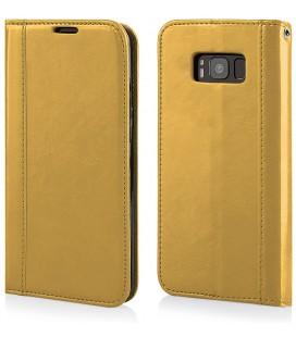 """Auksinės spalvos atverčiamas dėklas Samsung Galaxy S8 Plus telefonui """"Elegance"""""""
