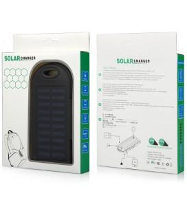 """Juoda vandeniui atspari išorinė baterija 6000mAh PowerBank """"Solar F1"""""""