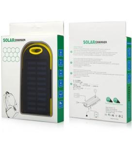 """Juoda - geltona vandeniui atspari išorinė baterija 6000mAh PowerBank """"Solar F1"""""""
