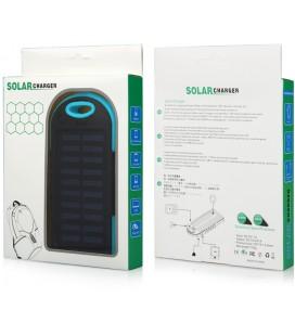 """Mėlyna vandeniui atspari išorinė baterija 6000mAh PowerBank """"Solar F1"""""""