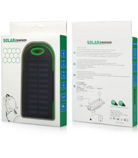 """Žalia vandeniui atspari išorinė baterija 6000mAh PowerBank """"Solar F1"""""""