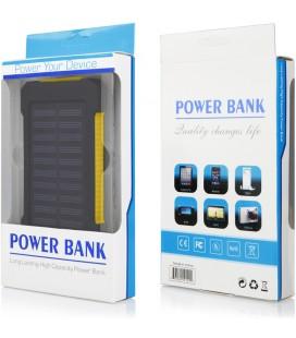 """Geltona vandeniui atspari išorinė baterija 10000mAh PowerBank """"Solar F5"""""""