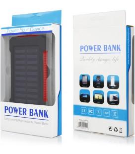 """Raudona vandeniui atspari išorinė baterija 10000mAh PowerBank """"Solar F5"""""""