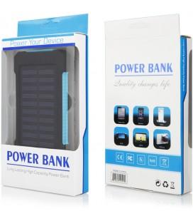 """Mėlyna vandeniui atspari išorinė baterija 10000mAh PowerBank """"Solar F5"""""""