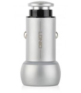 """Metalinis automobilinis USB pakrovėjas 3,6A 12v/24v + MicroUSB laidas """"LDNIO C401"""""""