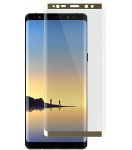 Lenktas auksinės spalvos apsauginis grūdintas stiklas Samsung Galaxy Note 8 N950 telefonui