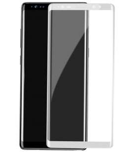 Lenktas baltas apsauginis grūdintas stiklas Samsung Galaxy Note 8 telefonui