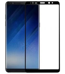 Lenktas juodas apsauginis grūdintas stiklas Samsung Galaxy Note 8 telefonui