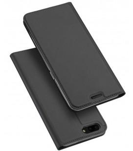 """Juodas atverčiamas dėklas OnePlus 5 telefonui """"Dux Ducis Skin"""""""