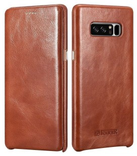 """Rudas odinis atverčiamas dėklas Samsung Galaxy Note 8 telefonui """"iCarer Vintage"""""""