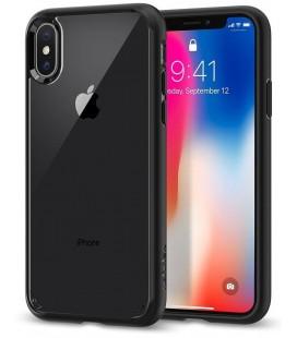 "Matinis juodas dėklas Apple iPhone X telefonui ""Spigen Ultra Hybrid"""