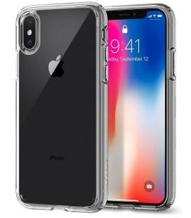 """Skaidrus dėklas Apple iPhone X telefonui """"Spigen Ultra Hybrid"""""""