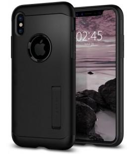 """Juodas dėklas Apple iPhone X telefonui """"Spigen Slim Armor"""""""