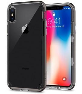 "Pilkas dėklas Apple iPhone X telefonui ""Spigen Neo Hybrid Crystal"""