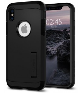 "Matinis juodas dėklas Apple iPhone X telefonui ""Spigen Tough Armor"""