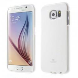 """Baltas dėklas Mercury Goospery """"Jelly Case"""" Samsung Galaxy S6 telefonui"""