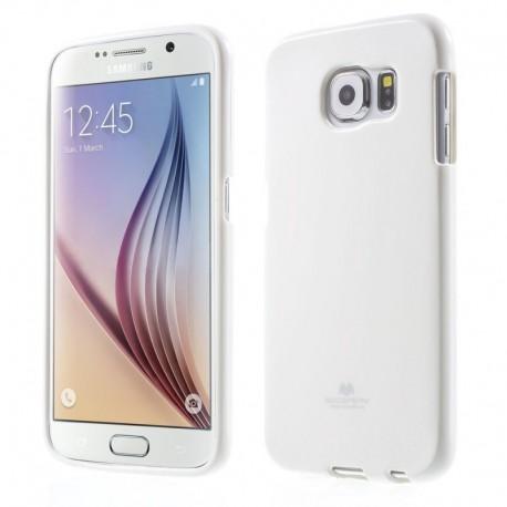 """Baltas dėklas Mercury Goospery """"Jelly Case"""" Samsung Galaxy S6 G920 telefonui"""