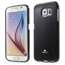 """Juodas dėklas Mercury Goospery """"Jelly Case"""" Samsung Galaxy S6 G920 telefonui"""