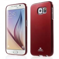 """Raudonas dėklas Mercury Goospery """"Jelly Case"""" Samsung Galaxy S6 telefonui"""