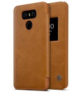 """Odinis rudas atverčiamas dėklas LG G6 telefonui """"Nillkin Qin"""""""