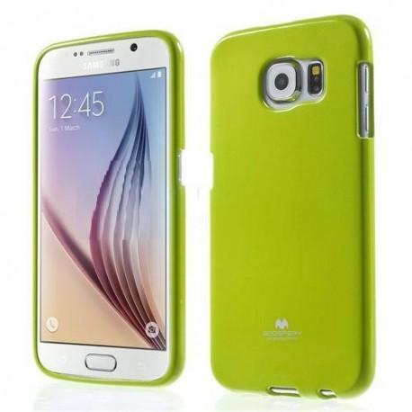 """Žalias dėklas Mercury Goospery """"Jelly Case"""" Samsung Galaxy S6 G920 telefonui"""