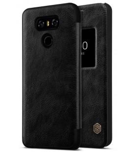 """Odinis juodas atverčiamas dėklas LG G6 telefonui """"Nillkin Qin S-View"""""""