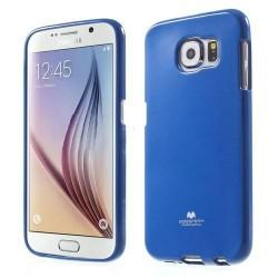"Mėlynas dėklas Mercury Goospery ""Jelly Case"" Samsung Galaxy S6 telefonui"