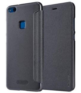 """Atverčiamas juodas dėklas Huawei P10 Lite telefonui """"Nillkin Sparkle"""""""