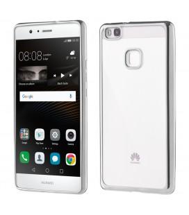 """Sidabrinės spalvos silikoninis dėklas Huawei P9 Lite Telefonui """"Glossy"""""""