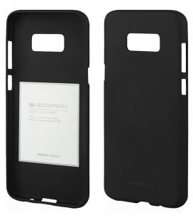 """Juodas silikoninis dėklas Samsung Galaxy Note 8 telefonui """"Mercury Soft Feeling"""""""