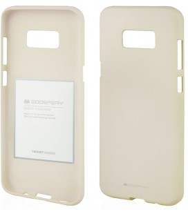 """Šviesiai pilkas silikoninis dėklas Samsung Galaxy Note 8 telefonui """"Mercury Soft Feeling"""""""
