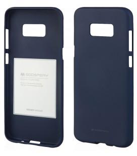 """Tamsiai mėlynas silikoninis dėklas Samsung Galaxy Note 8 telefonui """"Mercury Soft Feeling"""""""