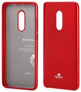 """Raudonas silikoninis dėklas Xiaomi Redmi Note 4 telefonui """"Mercury Goospery Pearl Jelly Case"""""""