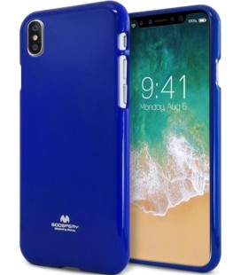 "Mėlynas silikoninis dėklas Apple iPhone X telefonui ""Mercury Goospery Pearl Jelly Case"""