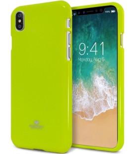 "Žalias silikoninis dėklas Apple iPhone X telefonui ""Mercury Goospery Pearl Jelly Case"""