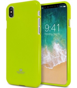 "Žalias silikoninis dėklas Apple iPhone X telefonui ""Mercury Goospery Pearl Jelly Case"""
