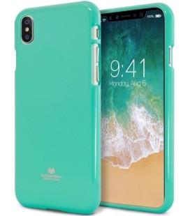 """Mėtos spalvos silikoninis dėklas Apple iPhone X telefonui """"Mercury Goospery Pearl Jelly Case"""""""