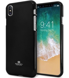 "Juodas silikoninis dėklas Apple iPhone X telefonui ""Mercury Goospery Pearl Jelly Case"""