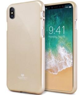 """Auksinės spalvos silikoninis dėklas Apple iPhone X telefonui """"Mercury Goospery Pearl Jelly Case"""""""